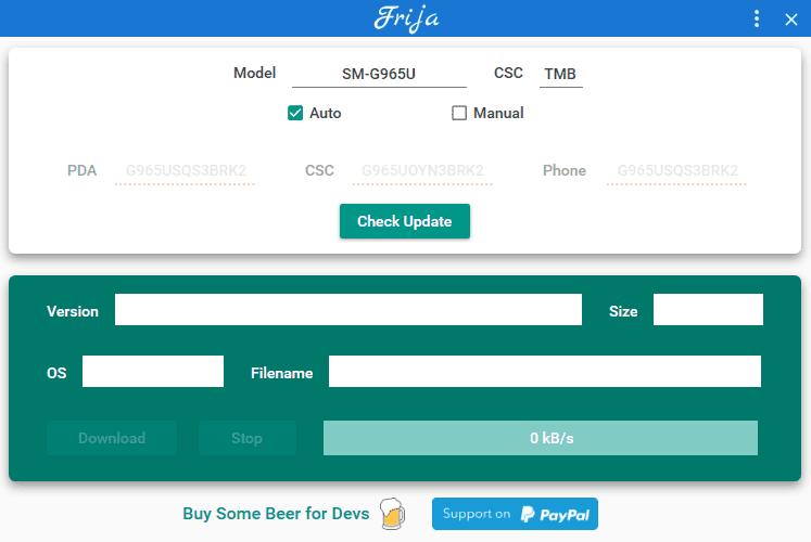 Download Samsung Frija Tool v1.3.0: A Firmware Downloader 4 Android