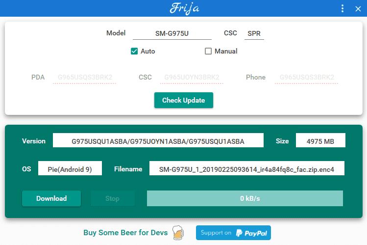Download Samsung Frija Tool v1.3.0: A Firmware Downloader 3 Android